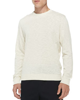 Vince Heathered Vintage Sweatshirt, White