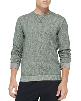 Vince Heathered Vintage Sweatshirt, Green