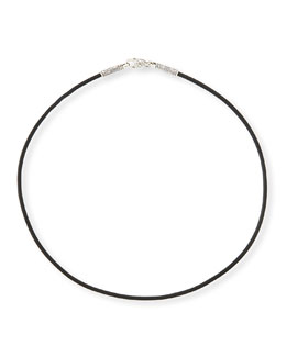 "KONSTANTINO 20"" Men's Leather Cord Necklace"