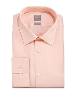 Ike Behar Textured Dress Shirt, Peach