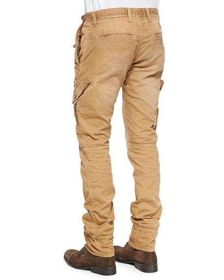 PRPS Savoy Khaki Safari Cargo Pants, Beige