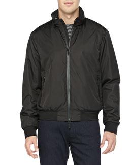 Armani Collezioni Nylon Blouson Jacket, Black