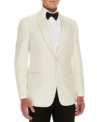 Armani Collezioni Silk Dinner Jacket, White
