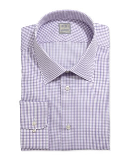 Ike Behar Long-Sleeve Check Dress Shirt, Purple