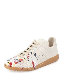 Maison Martin Margiela Splatter Low-Top Sneaker, Blue/Red