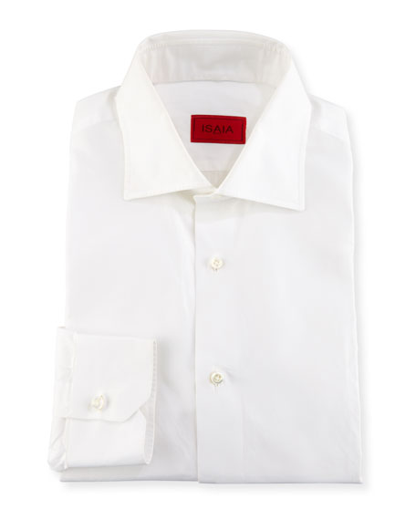Basic Solid Cotton Dress Shirt