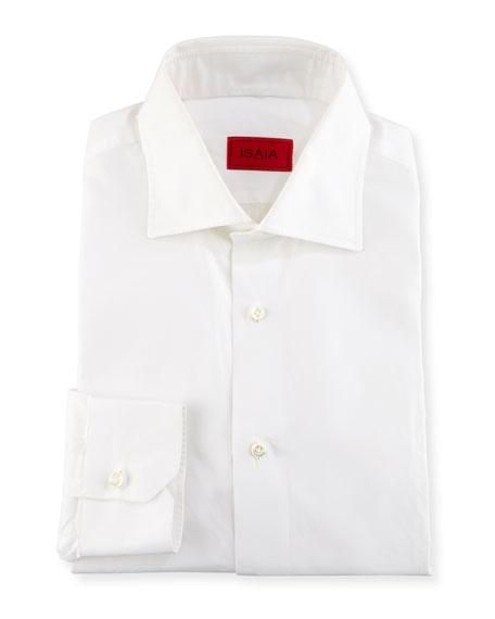 Basic Solid Cotton Dress Shirt