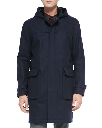 Theory Henning Voedar Hooded Parka, Navy