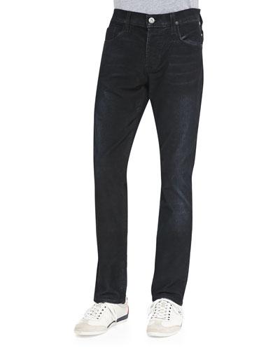 Sartor Coated-Cord Jeans, Navy