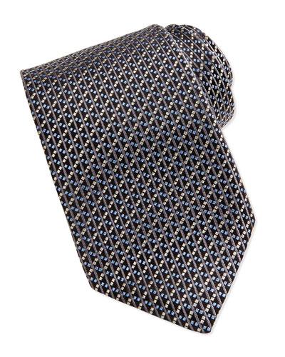 Robert Talbott Basket Weave Tie, Gray