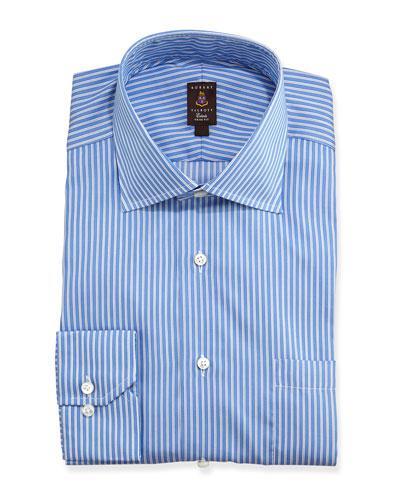 Robert Talbott Pique-Stripe Trim Fit Dress Shirt, French Blue