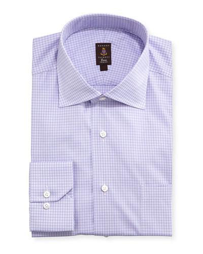 Robert Talbott Micro-Check Trim Fit Dress Shirt, Lavender