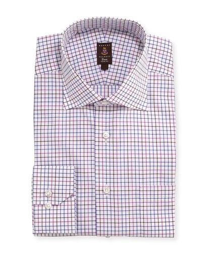 Robert Talbott Tattersall-Check Trim Fit Dress Shirt
