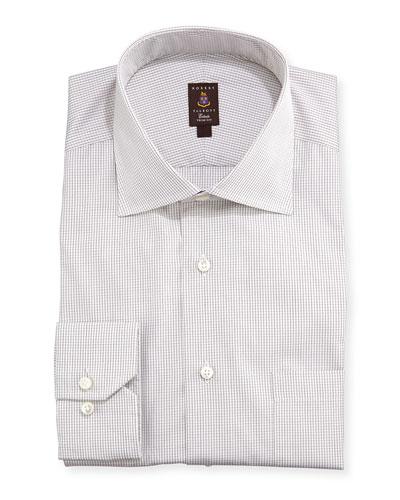 Robert Talbott Mini-Graph Check Dress Shirt, Brown