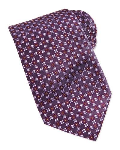 Robert Talbott Checkerboard Neat Tie, Grape