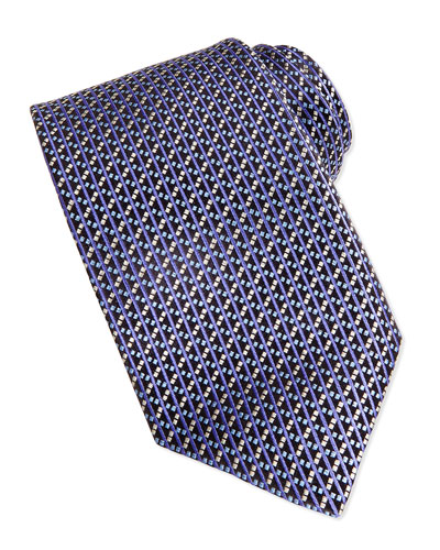 Robert Talbott Basket Weave Tie, Purple