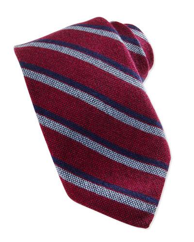 Robert Talbott Cashmere Stripe Tie, Beet
