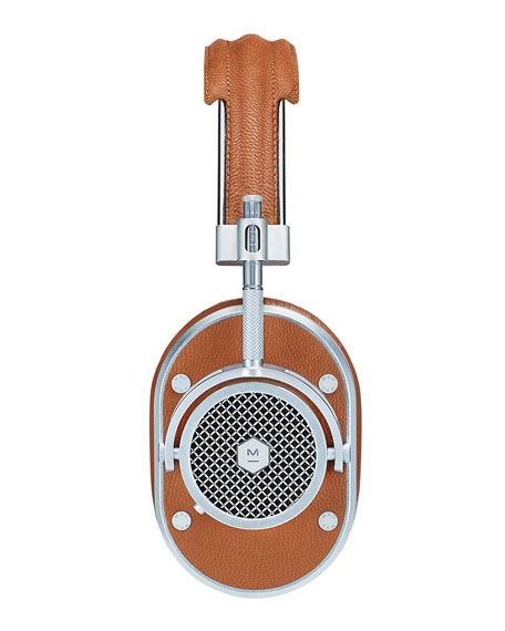 MH40 Noise-Isolating Over-Ear Headphones, Cognac/Silvertone
