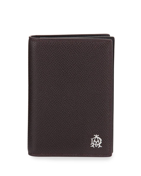 dunhill Cadogan Leather Business Card Case, Oxblood