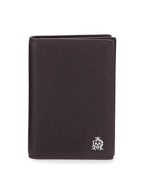 Cadogan Leather Business Card Case, Oxblood