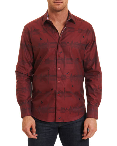 Floating City Sport Shirt, Brick