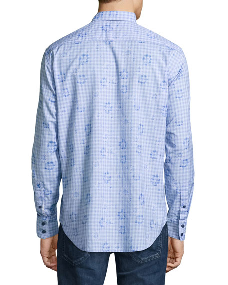 Malays Floral Check Sport Shirt