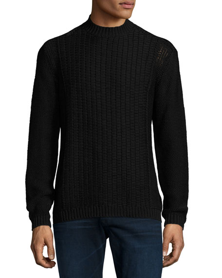 Robert Graham Moga Cable-Knit Sweater, Black