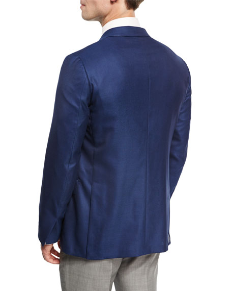 Wool Two-Button Sport Coat, Royal Blue