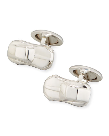 Motorites Rhodium-Plated Silver Cuff Links