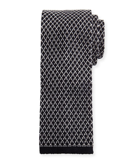 TOM FORD Gauze Knit Tie, Gray