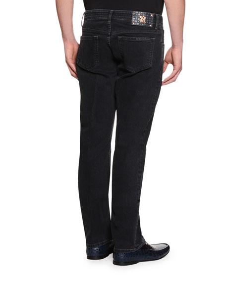 Five-Pocket Slim-Fit Jeans, Gray