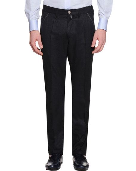 Slim-Fit Denim Pants, Black