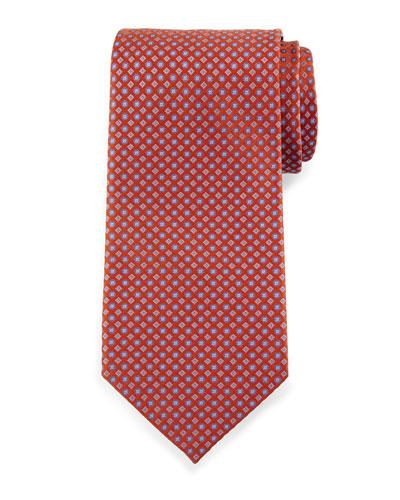 Neat Diamond Silk Tie