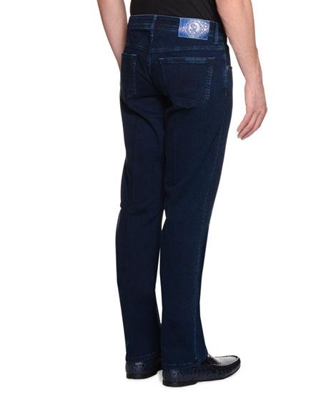 Five-Pocket Slim-Fit Denim Jeans, Denim
