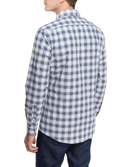 Check Plaid Sport Shirt, Navy