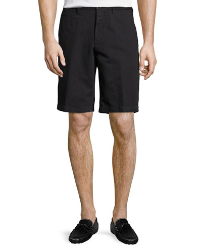 Cotton-Linen Straight-Leg Shorts