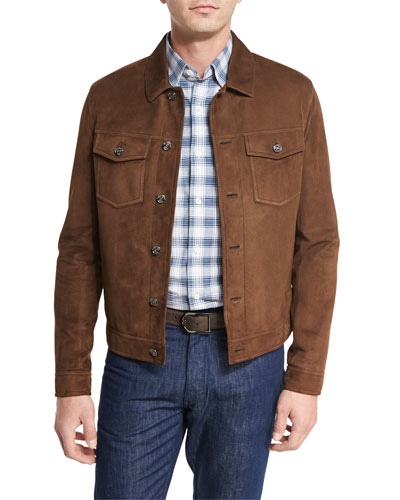 Men's Leather & Suede Jackets at Neiman Marcus