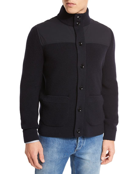 High-Performance Merino Wool Zip Jacket, Navy