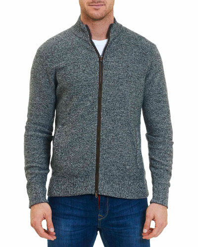 Gianluca Merino Wool Full-Zip Sweater