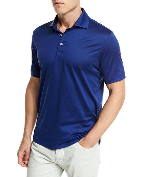 Ermenegildo Zegna Jersey Polo Shirt, Navy Blue