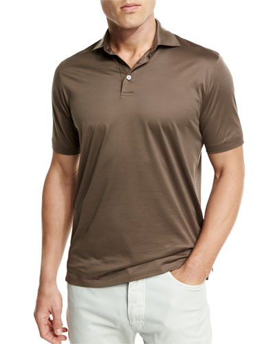 Ermenegildo zegna apparel collection at neiman marcus for Light brown polo shirt