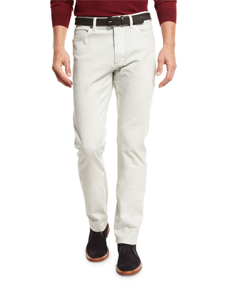 Ermenegildo Zegna ZW Five-Pocket Pants, Stone