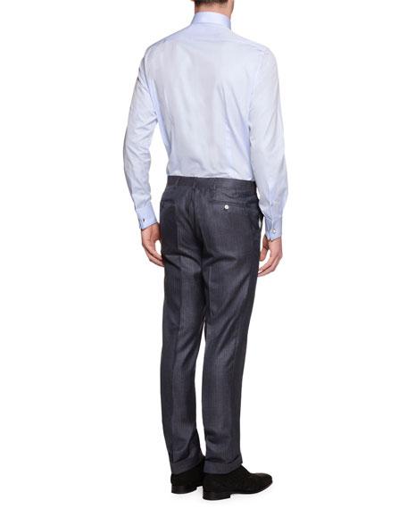 Tonal-Stripe Two-Piece Cashmere-Blend Suit, Gray
