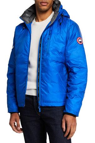 Canada Goose Men's Lodge PBI Down-Fill Hoodie Jacket
