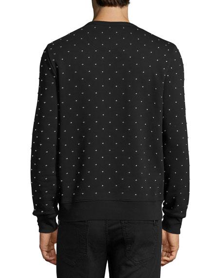 Allover Studded Sweatshirt, Black