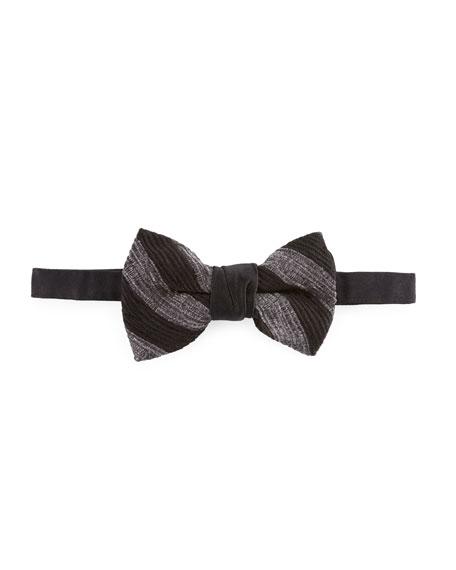 Stripe Chenille Bow Tie