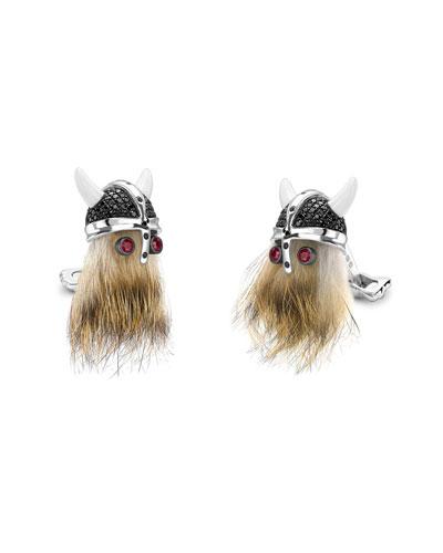 Viking Helmet Cuff Links