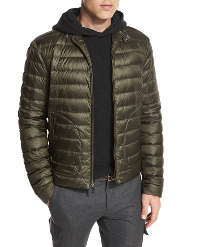 Roland Quilted Down Jacket, Olive