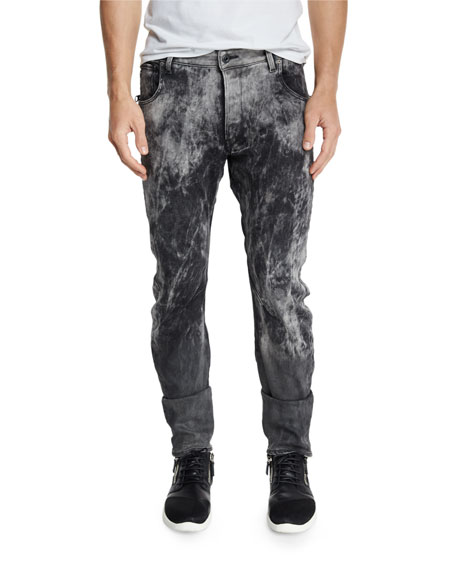 G-Star Arc 3D Bleach-Effect Slim-Fit Stretch-Denim Jeans, Black