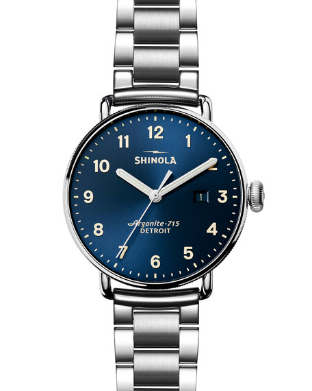 43mm Canfield Stainless Steel Watch